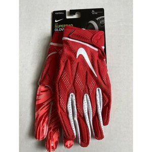New! Nike Superbad 4.5 Football Wide Receiver Gloves Sz XL Red/White PGF873-663